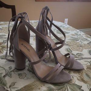 cylinder heeled sandal